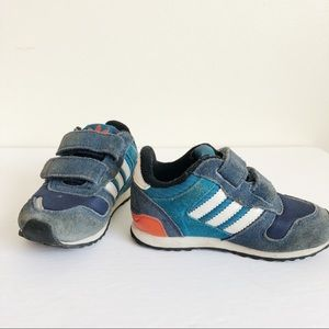 Adidas Kids Velcro Blue Sneakers